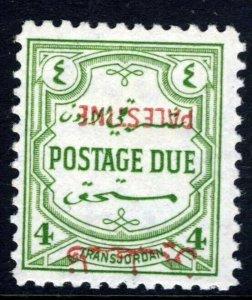 TRANSJORDAN 1948 4 Mils Green POSTAGE DUE INVERTED OVERPRINT SG PD18i MNH