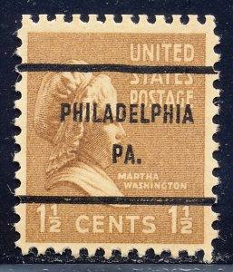 Philadelphia PA, 805-61 Bureau Precancel, 1½¢ M. Washington