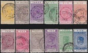 NEW ZEALAND 1880 LONG TYPE STAMP DUTY range to £5 used......................4724