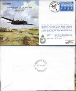 B21a 31st Ann Last Flight of the Wellington Standard Cover (A)