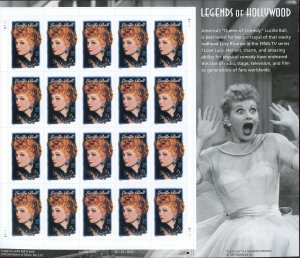 SCOTT 3523 LEGENDS OF HOLLYWOOD - LUCILLE BALL - (20) OG/MNH SHEET OF STAMPS
