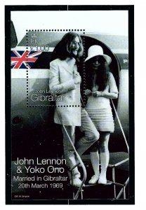 Gibraltar 806 MNH 1999 John Lennon S/S
