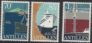 Netherlands Antilles 1982 #472-4 MNH. Ships
