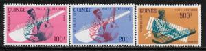 Rep. de Guinee C32 - 34 mh 2013 SCV $13.15 music stamps  -  2817