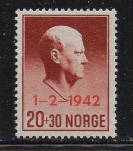 Norway Sc B26 1942 Quisling Prime Minister stamp mint