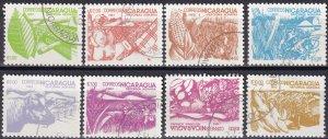 Nicaragua #1298-1305 F-VF Used CV $3.15 (SU8173)