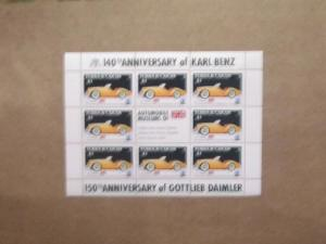 Turks and Caicos - 605-12, MNH Sheet Set. Classic Cars. SCV - $10.00