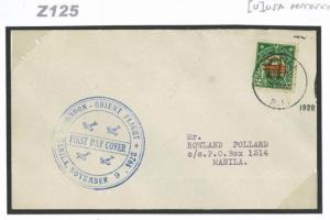 Z125 1928 PHILLIPINES AIRMAIL *First Flight Cover* Per Orient Flight  Manila