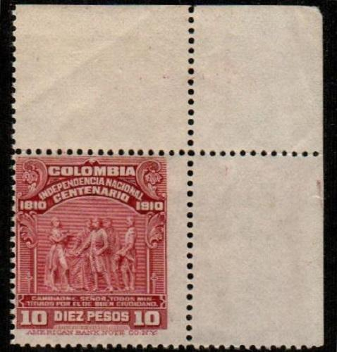 Colombia Scott 338 Mint NH (Michel Catalog Value 800 Euros)