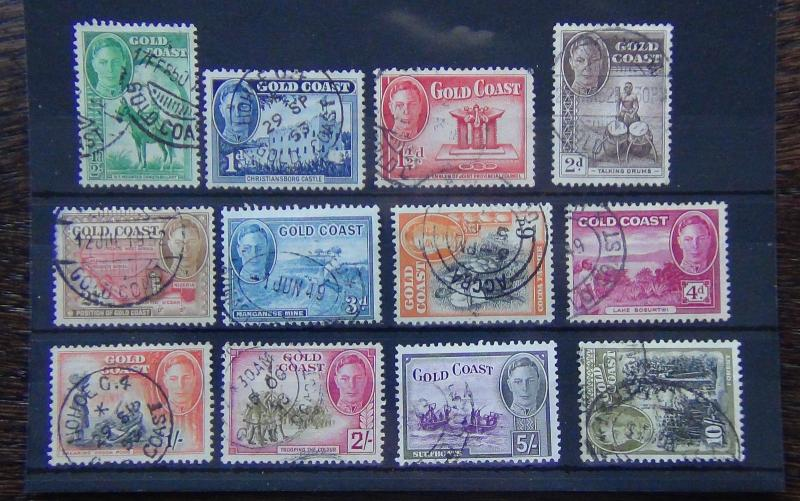 Gold Coast 1948 set complete to 10s Fine Used
