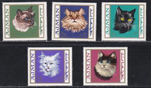 Ajman M318-323, Cats, NH Set