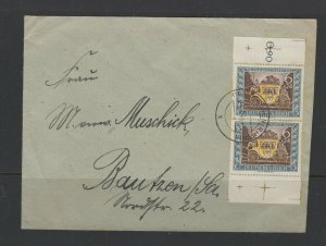Germany - Reich #B215 (1943 Stamp Day) pair on Jun 24/1943 cover CV €6