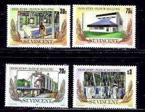 St Vincent 882-85 MNH 1985 Flour Milling    (ap1533)