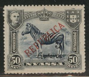 Nyassa Scott 101 MH* London Surcharge 1921