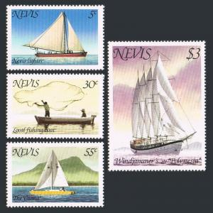 Nevis 116-117b booklet,MNH.Michel 41,42C MH. Lighter,Windjammer's S.V.Polynesia.