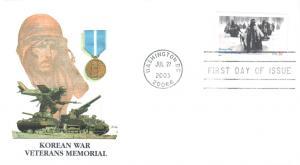 #3803 Korean War Veterans Memorial Fleetwood FDC