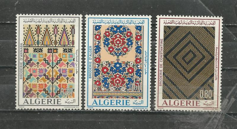 Algeria Scott catalogue # 491-493