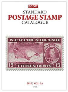 Scott Stamp Catalog 2022 Volume 2A & 2B - COUNTRIES C-F  Book  FREE SHIPPING!