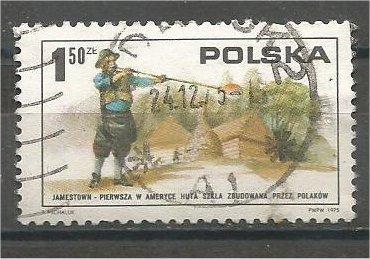 POLAND, 1975, used 1.50z, American Revolution, Scott 2118