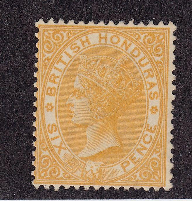 Br Honduras Scott # 16 F-VF mint lightly hinged nice color $ 325 ! see pic !