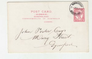 QUEENSLAND, Postal Card 1912 1d. Red, Maryborough to Gympie.