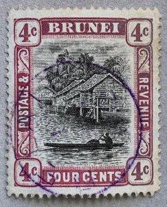 Brunei 1907 4c reddish purple, BELAIT SON cds. Scott #19a, CV $70.00.  SG 26a
