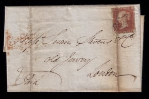 Great Britain 1842 SG8 Folded Letter W/Several Postmarks Very Good Condition
