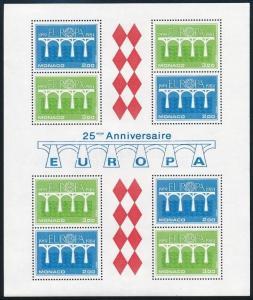 Monaco stamp Europe CEPT: Conference block MNH 1984 Mi 26 WS243452