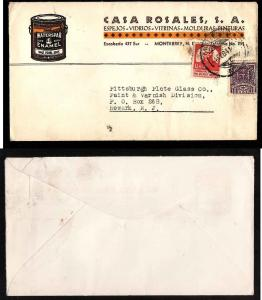 #4816-Mexico-illustrated advertising cover to USA- Monterrey