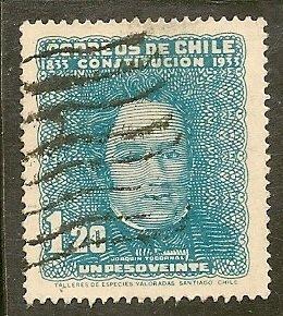 Chile  Scott  184   Centenary of Constitution    Used