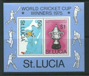 ST.LUCIA SGMS433 1976 WEST INDIAN VICTORY IN WORLD CRICKET CUP MNH