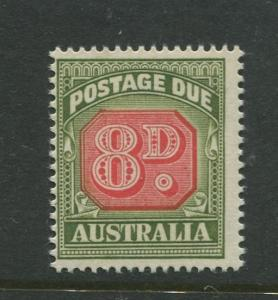 Australia - Scott J92 - Postage Due Issue -1958- No Wmk - MNH -Single 8d stamp