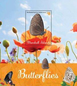 2020/11-MARSHALL ISLANDS - BUTTERFLIES         1V  complet set    MNH ** T