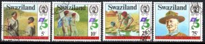 Swaziland - 1982 75th Anniversary of Scouts Set Used SG 416-419