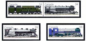 Canada 1119a-21 MNH 1986 Locomotives    (ap3560)