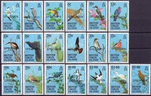 British Virgin Islands. 1985. 500-518. Bird fauna. MNH.