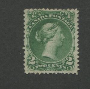 1868 Canada Postage Stamp #24b 2c Mint Hinged F/VF No Gum