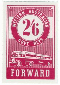 (I.B) Australia - Western Australia Railways : Parcels 2/6d