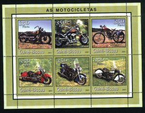 Guinea-Bissau   SS   motorcycles Mint NH VF 2001 PD