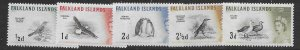 Falklands 128-32  1960 set 5  VF  NH