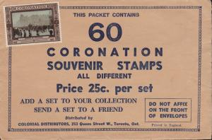 Great Britain 1937 45 Coronation Labels out of a Set of 60 Gummed Labels VF/NH
