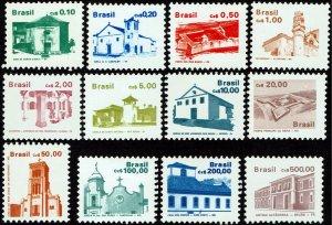 Brazil #2055-2073  MNH - Architecture, Buildings Complete Set (1986-88)