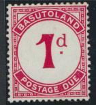 Basutoland  Postage Due  SG D1b  Mint  light Hinged trace see details
