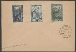Germany 1940 WWII Occupied Luxemburg Luxembourg Souvenir Cover G101908