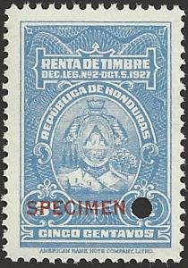 HONDURAS SPECIMEN