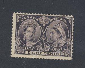 Canada Victoria Jubilee Stamps; #56-8c MH Fine Thin Guide Value = $60.00