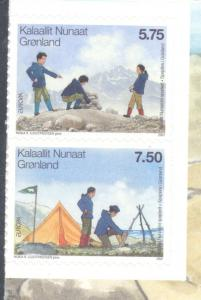 Greenland Sc 495-6 2007 Europa self adhesive stamp set mint NH