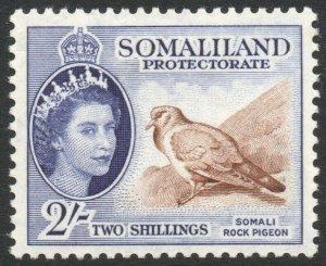 SOMALILAND-1953-58 2/- Brown & Bluish Violet Sg 146 MOUNTED MINT V42915