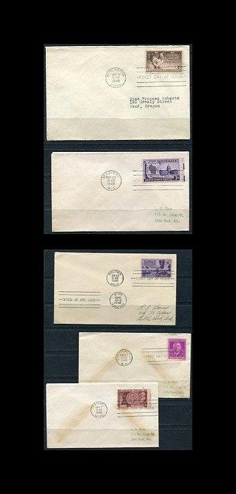 USA 1948  5 FDC Covers