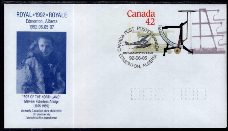 Canada Unitrade U130 Postal Envelope Airplane Event Cancel VF